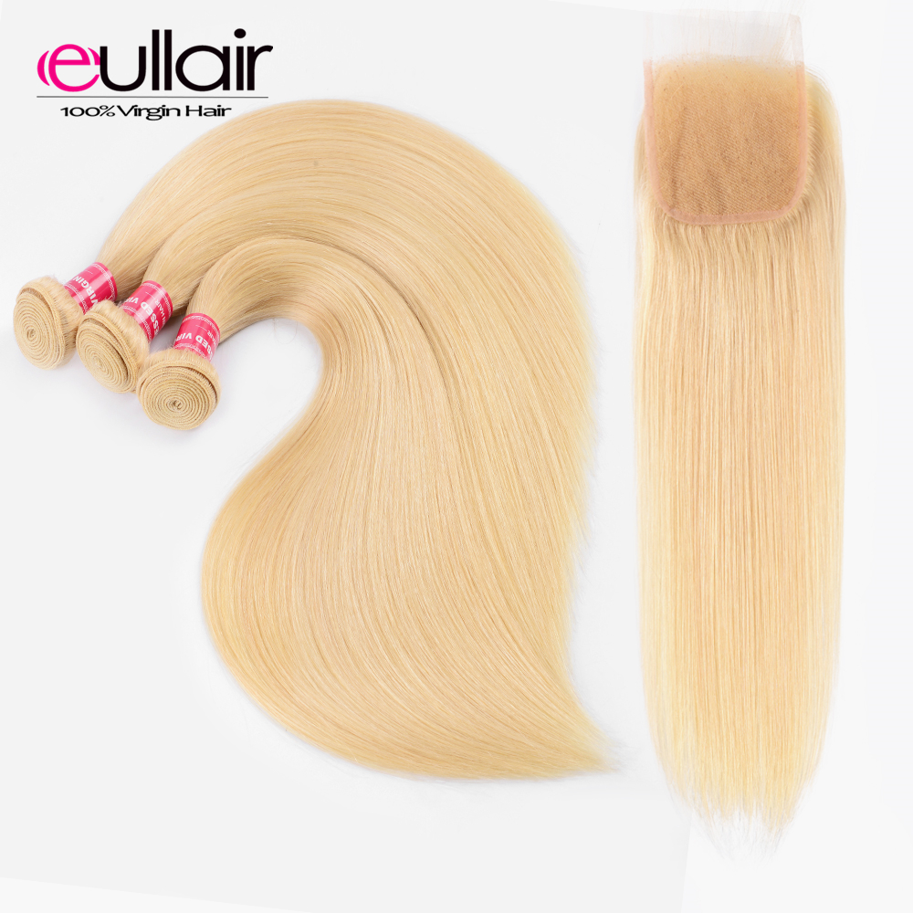Hair Extensions & Wigs Mstoxic 613 Bundles With Closure Malaysian Straight Hair Bundles With Closure Remy Human Hair Honey Blonde Bundles With Closure