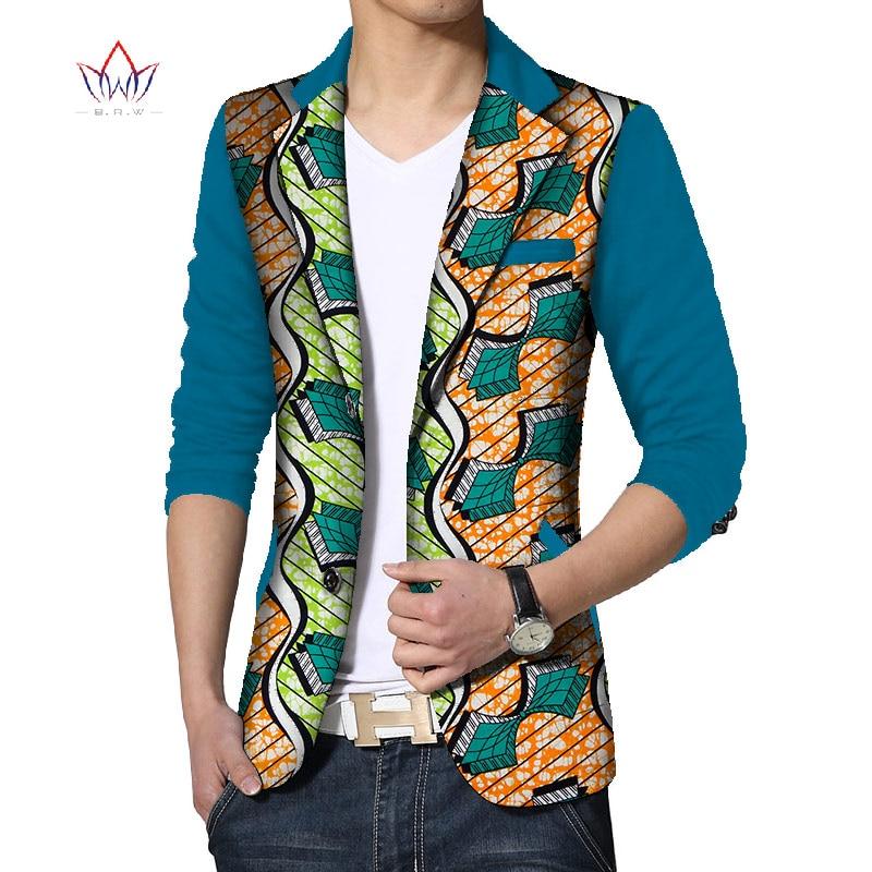 Personnalisé Dashiki hommes africain imprimé vêtements hommes Blazer costumes décontractés veste hommes vestes grande taille vêtements africains ATN133 - 2