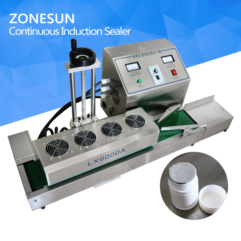 ZONESUN DL-1800 Desktop stainless steel Continuous Induction Sealer,magnetic induction sealing machine,suit for 15-80mm diameter xeoleo commercial induction 3500w stainless steel induction cookers with timing for hotpot soup stewing stir fly