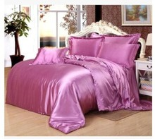 Lilac light purple bedding sets Silk satin super king size queen full quilt duvet cover violet bed sheet fitted bedspreads 6pcs lilac light purple bedding sets silk satin super king size queen full quilt duvet cover violet bed sheet fitted bedspreads 6pcs