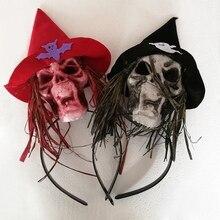 Halloween Skull Headband Costume Props Party Favors Head Skeleton Holiday DIY Decor Horror Supplies