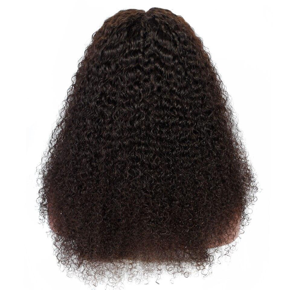 YVONNE Malaysian Curly Virgin Human Hair Lace Front Paryk För Svart - Mänskligt hår (svart) - Foto 3