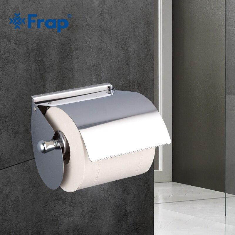 Frap 1 Set Chrome Bad Waschraum Wc Papier Halter Rollen Tissue Halter Wc Papier Higienico Box Bad Zubehör F501 Eine VollstäNdige Palette Von Spezifikationen Papierspender