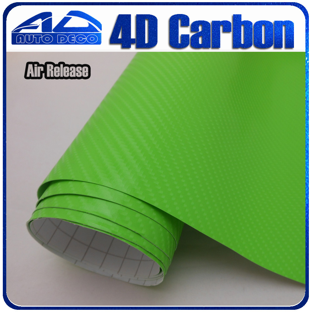 High Quality Apple Green Carbon Fiber Film Vinyl Car Sticker For Car Wrapping With Air Bubble Free FedEx Free Shipping 30m/roll quality guarantee silver chrome vinyl film for car wrapping sticker with air bubble free 20m roll