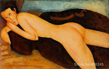 Woman Art online Amedeo Modigliani Paintings reclining nude from the back High quality Hand painted