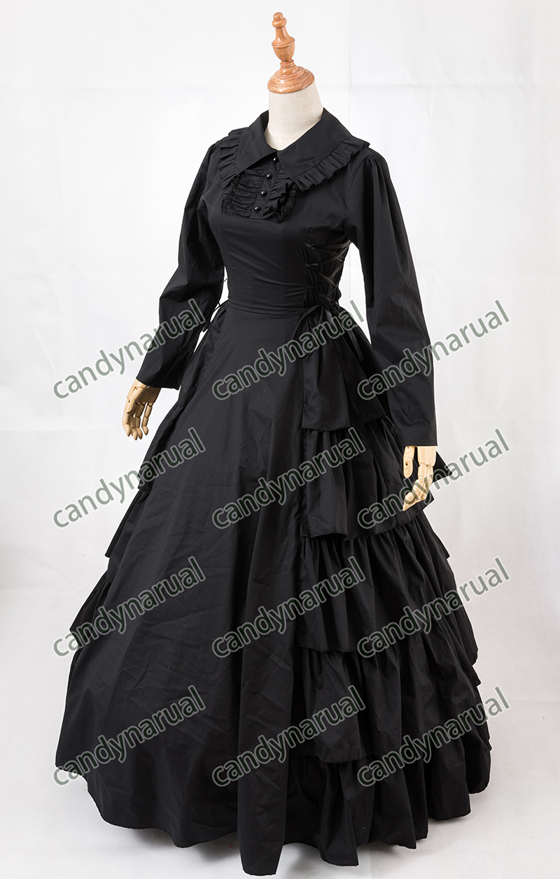 Aliexpress.com   Buy ZNCJ Customized Vintage Costumes 1860s Civil War Southern  Belle Ball Gown Dress Gothic Lolita Dress Victorian Bustle dresses from ... 01743d58dbb6