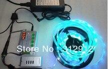 5 м DC12V 30 светод. / м 10 шт. ws2811 ic / meter ip66 ленты + TH2014-X рф пикселей контроллер + 12 В / 5A адаптер питания комплект