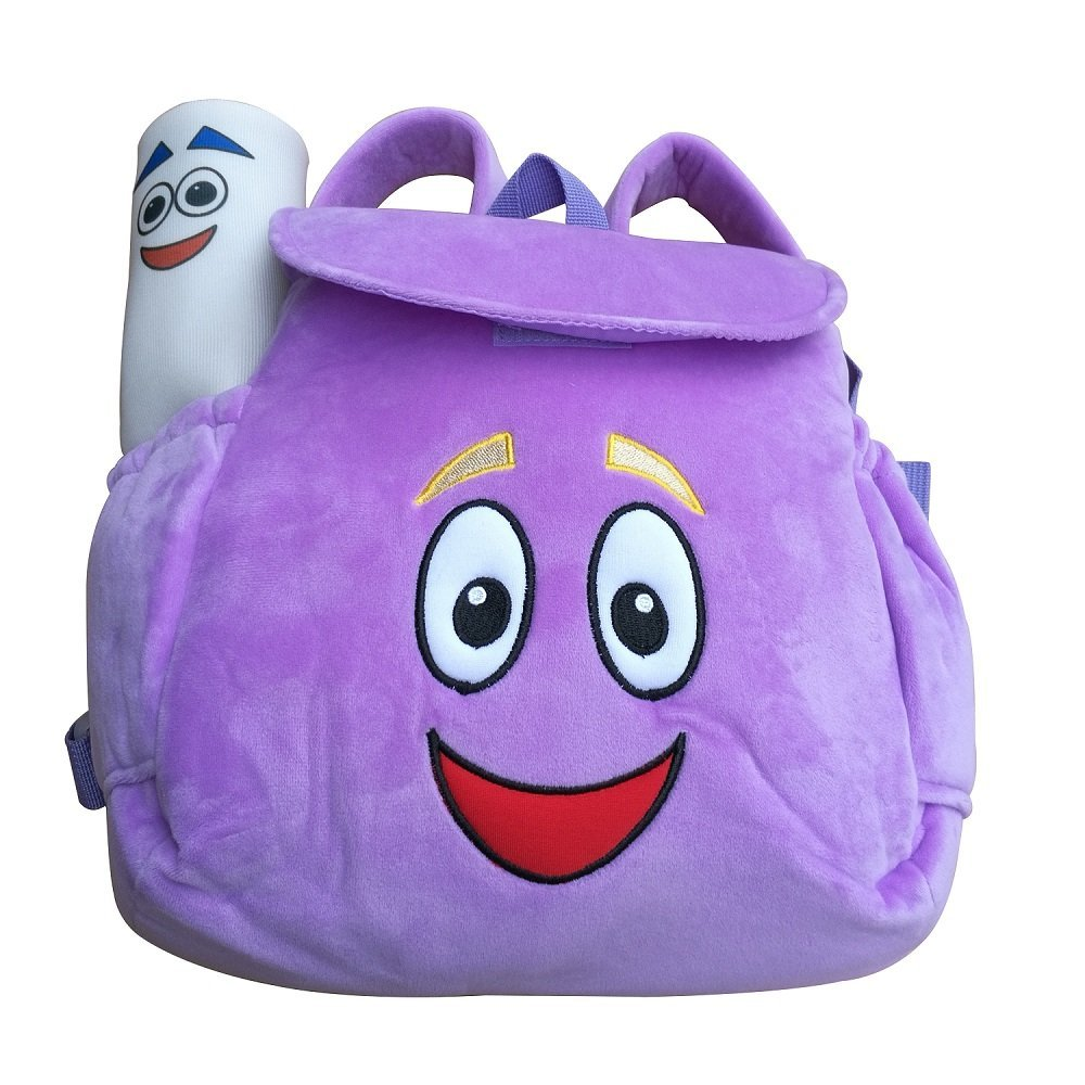 IGBB Dora Explorer Soft Plush Backpack Rescue Bag with Map ... Dora Plush Backpack With Map on