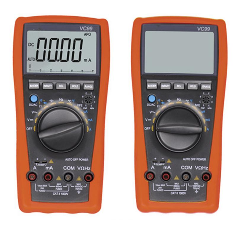 6000 Word High Precision 3 5/6 Digit Auto Range Test Device Digital Analog Bar Display Ammeter Multimeter Tester цена
