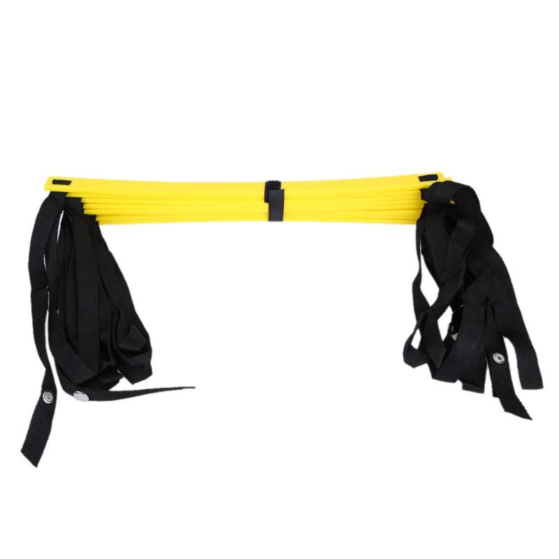 Rung Nylon Straps Training Ladders Agility Speed Ladder Stairs for Soccer Football Speed Ladder Fitness Equipment 6/7/8/12/14 26