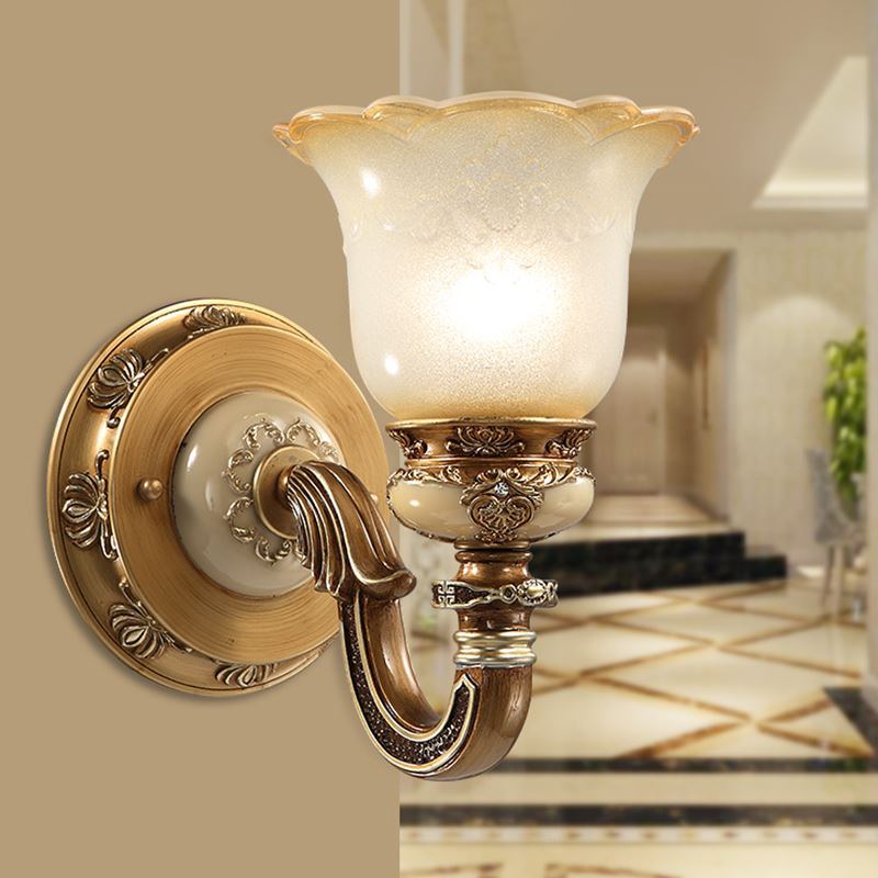 European style 1/2head wall lamps bedroom bedside single head living room balcony TV wal ...