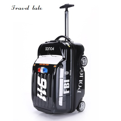 Travel tale cartoon car 20 inch size children PC Rolling Luggage Spinner brand Travel Suitcase Fashion