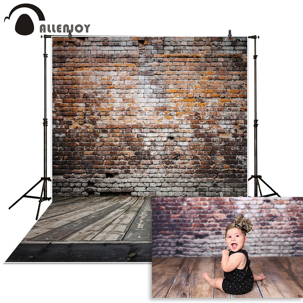 Allenjoy backdrop for photographic studio Broken wooden brick wall background vinyl photography backdrop photo studio photobooth allen joy photographic background cute cartoon fish wood backdrop photography without stand