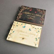 Персонализированная А4 Свадебная Гостевая книга любовь бабочки Гостевая книга на заказ Свадебная книга памяти Выгравированная Свадебная книга для душа