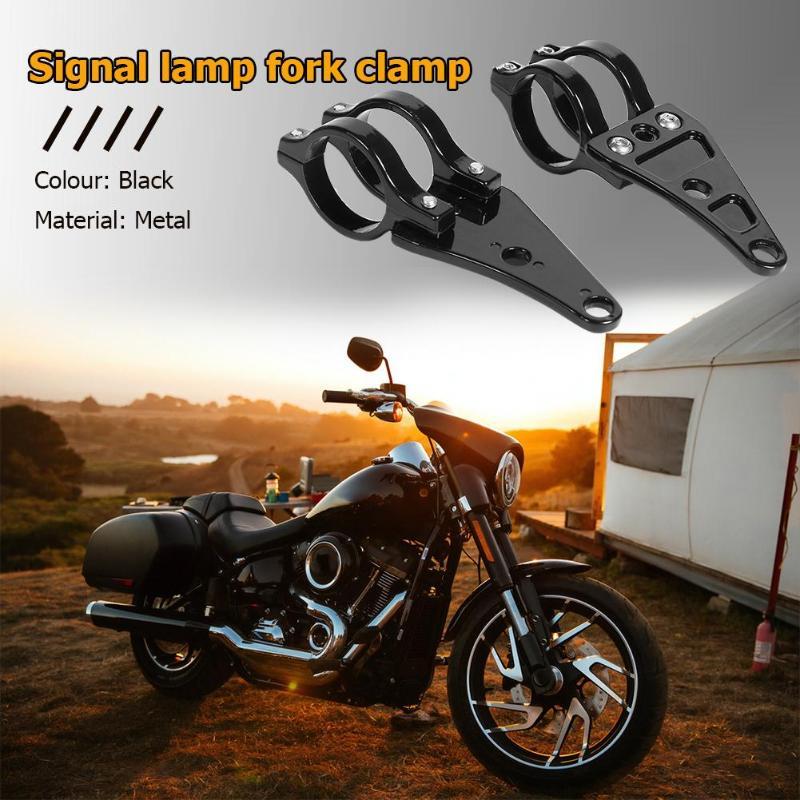 VODOOL Universal 1 Pair Black 41mm Aluminum Motorcycle HeadLight Mount Bracket Fork For Harley Chopper /Cafe /Racer Car Parts