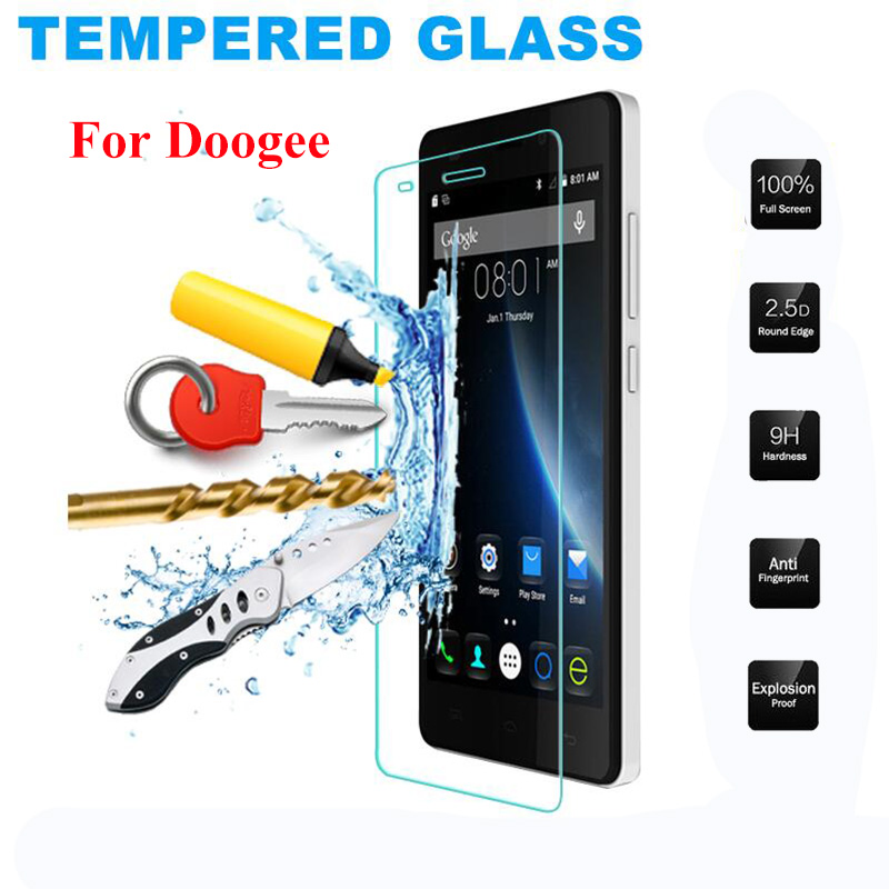 Protective Cover For Doogee X5 max Pro Tempered Glass Screen Protector Film For Doogee Homtom Ht6 Ht7 Ht3 T6 X6 X9 Case LCD(China)