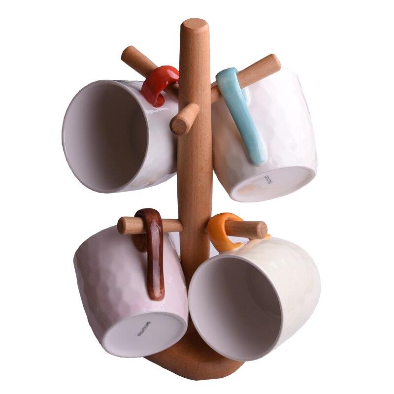 4 шт. кружка костюм новый свежий искусство и творческие керамика для внутреннего деревянная рамка прекрасная пара стакана воды кофейная кру...