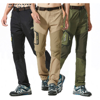 ZXQYH Summer Men Quick Dray Pants 6XL Outdoor Sport Pants Camping Hiking Breathable Trousers Waterproof Removeable Plus Pants