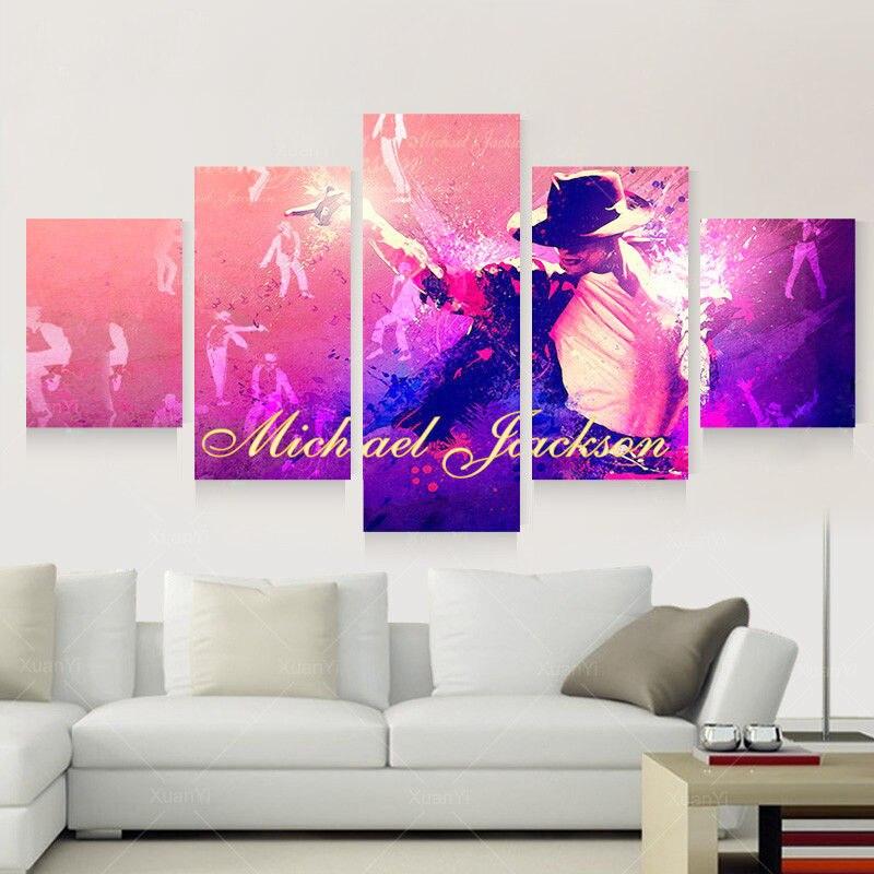Framed Home Decor Canvas Print Painting Wall Art Michael Jackson ...