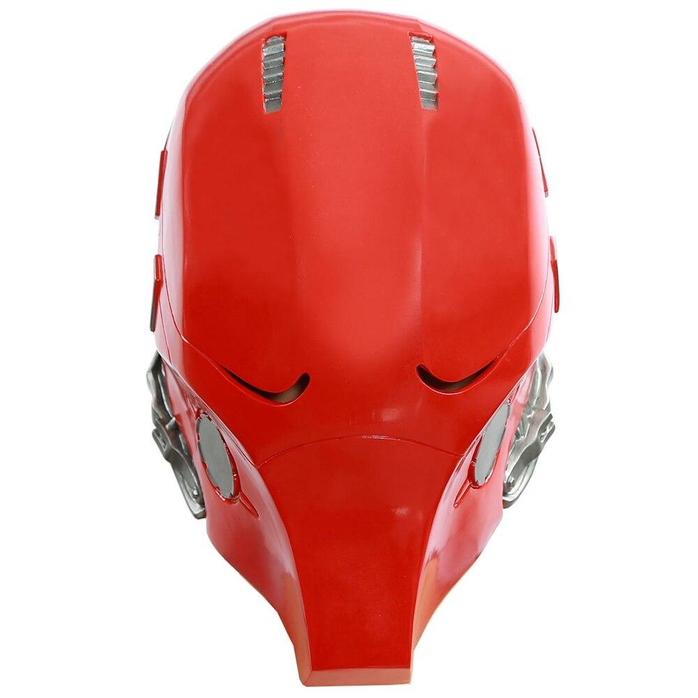 Red Hood Mask Batman Helmet Full Head PVC Cosplay Costume Prop Replica Fancy Party Headwear