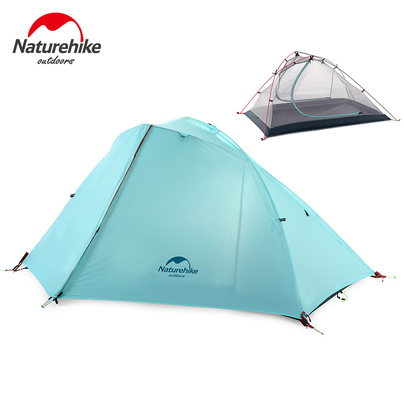 Naturehike 1-2 Person Camping Tent 3 Season Windproof Tent Outdoor Picnic Double Layer Tent NH16S012-S/NH16S013-S naturehike factory store free mat ultralight taga tent 1 2 person outdoor camping hiking 3 season double layer windproof tent