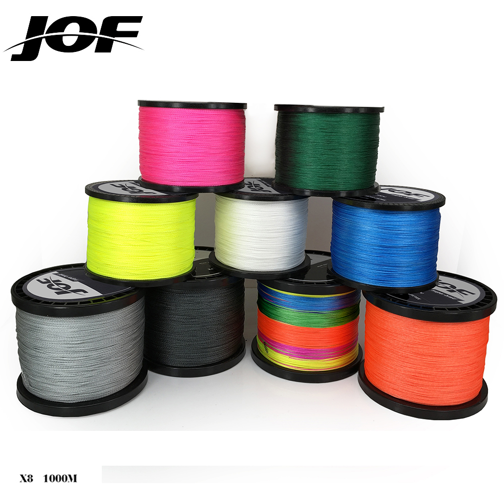 цена на 1000m 8 strands Multicolour PE Braided Wire Multifilament Fishing Line Fishing Tackle 15LBS-80LBS