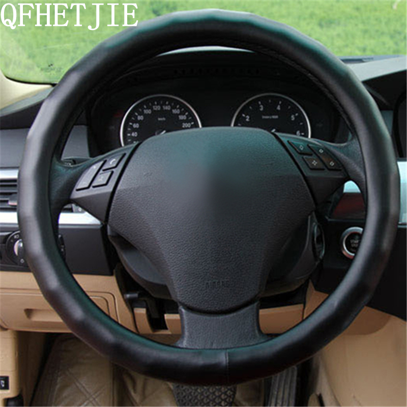 QFHETJIE Sheepskin Material Car Interior Modeling Steering Cover Cover Four Seasons Universal Anti-skid Steering Wheel Cover