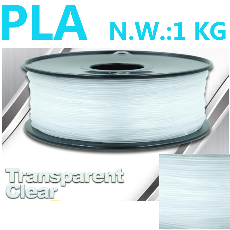 Transparent 3d plastic filament pla 3d pen plastic filament USA natural impressora 3d pla filament 1.75mm 1kg 3d printer pla tronxy 1 75mm pla filament for 3d printer