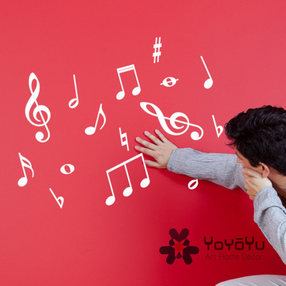 Pack Of 50 Music Wall Stickers Music Symbols Wall Decals For Kids