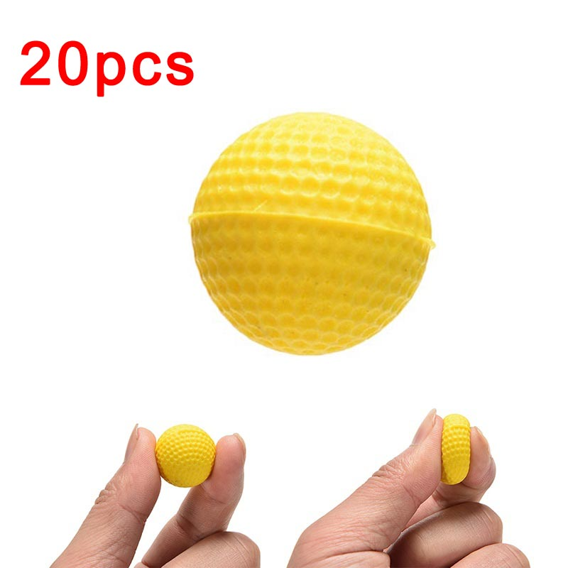 20 pcs/bag Bright Color Light Indoor Outdoor Training Practice Golf Sports Elastic PU Foam Balls @Z253 M09