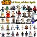 Lo nuevo Rogue Uno de Star Wars Boba Fett Darth malgus Caballero Jedi Obi-Wan Clones chewbacca Palpatine Bloques de modelo y juguetes de construcción