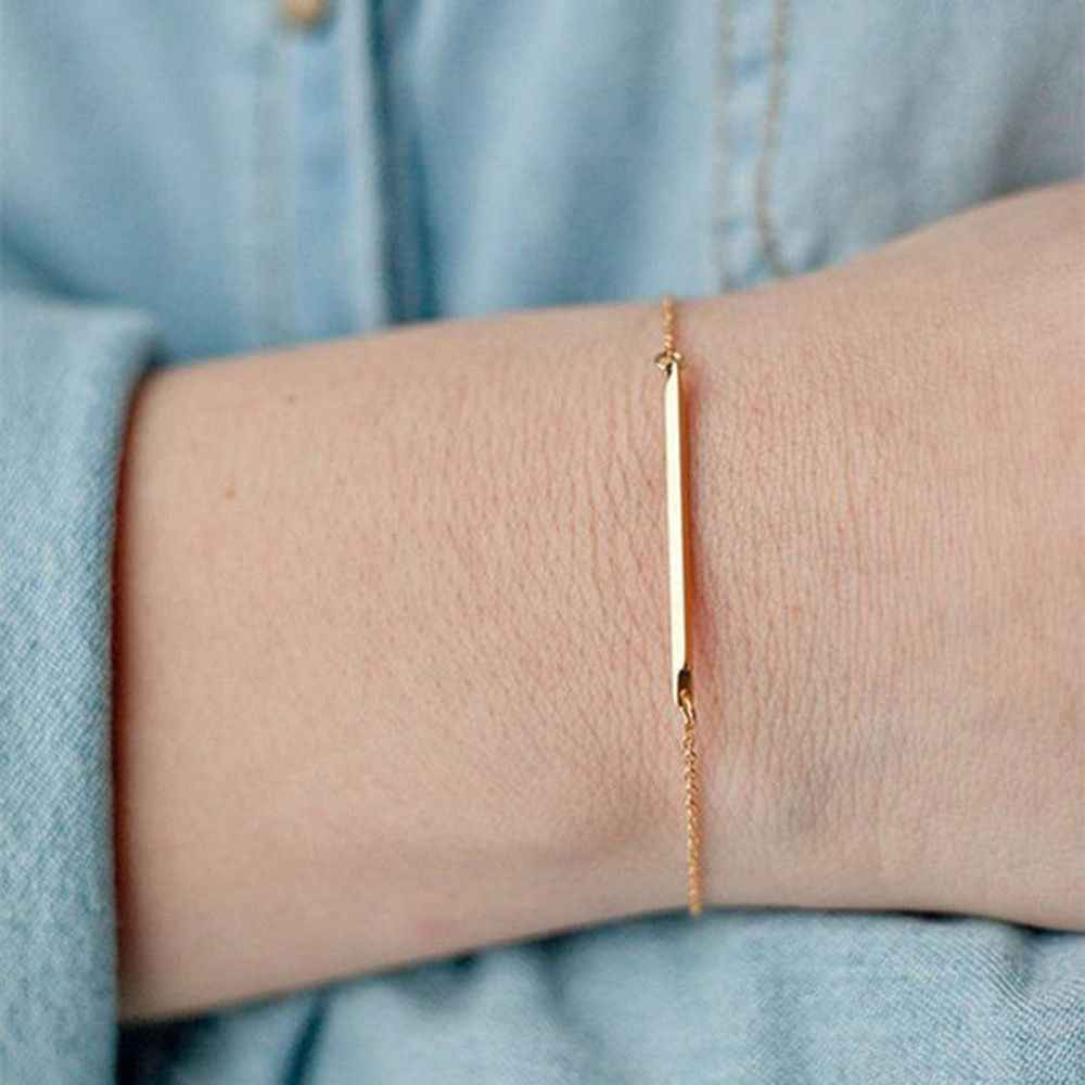 Classic 1 pcs Bangle Bracelet Jewelry Gift Bracelet Simple Stainless Steel Hand Chain  Women Fashion Party Jewelry Accessories
