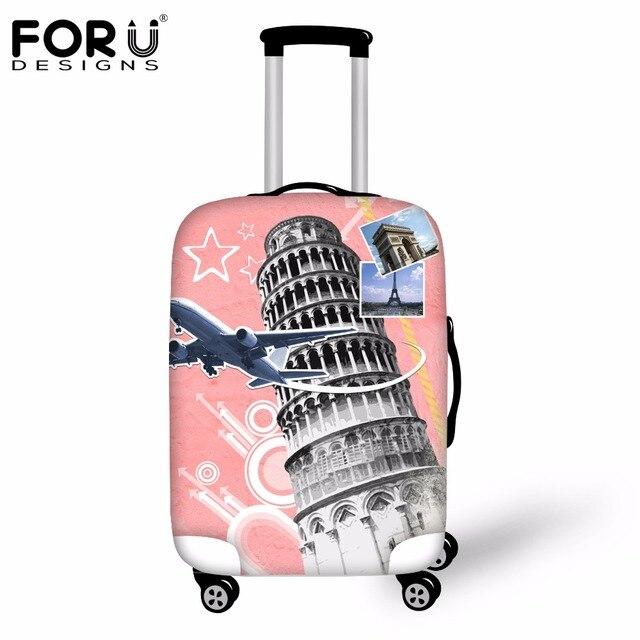Forudesigns 2017 moda mala de viagem capas protetoras anti-poeira saco de armazenamento de viagem cobertura de bagagem aplicar to18-30 polegadas caso