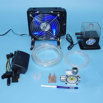 DIY Laptop CPU GPU water liquid cooling cooler radiator Copper Block water Pump+water tanks+fins Heat sink fans sets system kit
