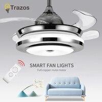 TRAZOS Современный Белый детский потолочный вентилятор с подсветкой спальня потолочный светильник вентилятор В 220 в детский потолочный венти