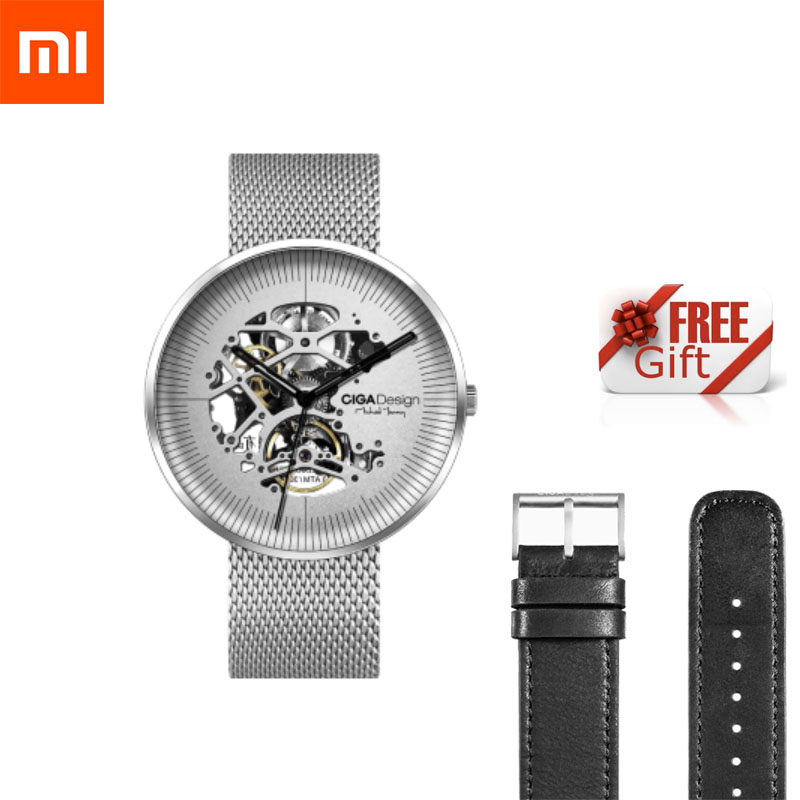 Xiaomi Mijia CIGA MY Series Watch Hollowed out Design Anti Seismic Mechanical Watch With Metal Strap