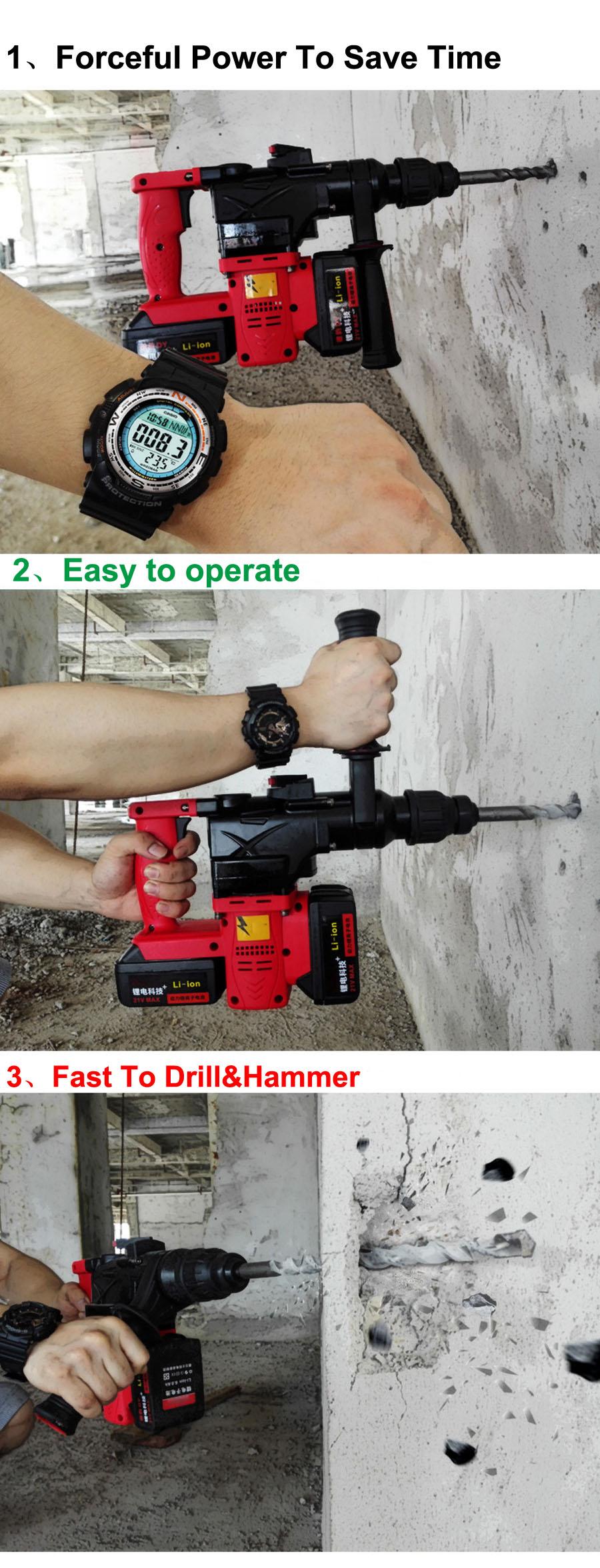 HTB1n7 JaoFWMKJjSZFvq6yenFXaZ - 15000 25000mAh Heavy Industrial Wall Hammer Cordless Drill Rechargeable Samsung Lithium Battery Electric Hammer Impact Drill