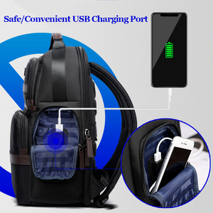 Image 2 - BOPAI Anti thief USB Charging 15.6 Inch Laptop Backpack for Women Men Cool Travel Backpack with Water Bottle Pocket Male Mochila