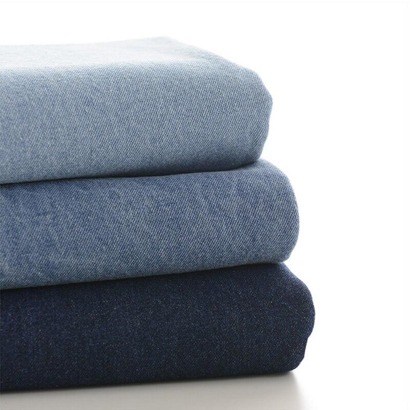 Ξ50x140 cm grueso Denim sarga de algodón lavado puede hacer