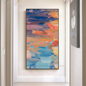 Decorative art handmade oil painting on canvas modern abstract vintage pictures large canvas art for bedroom living room cuadro