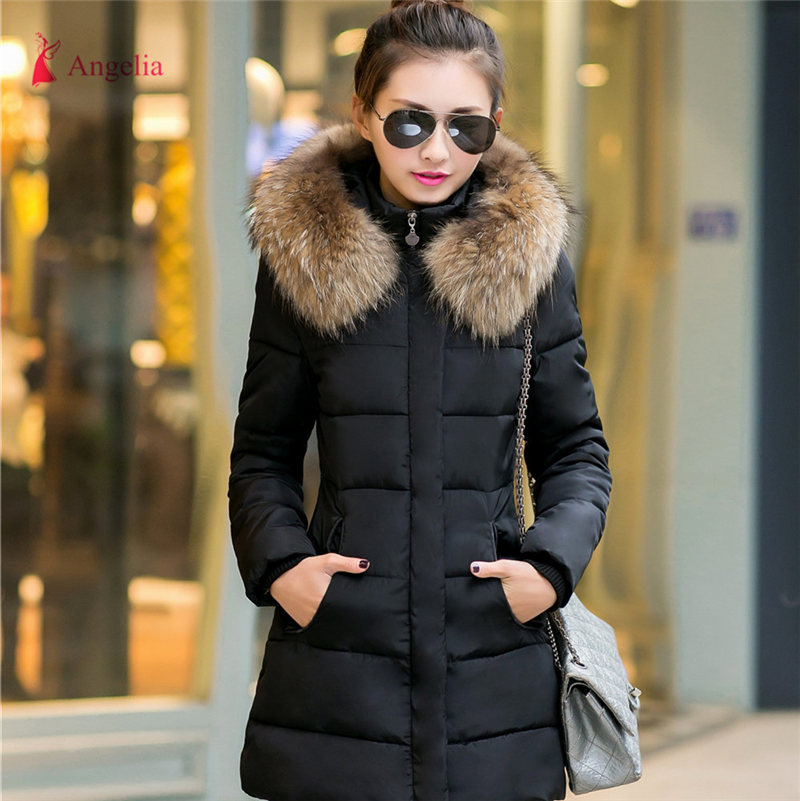 Brand China Winter Jacket Women Warm Long Padded Coat Hood Fur ...
