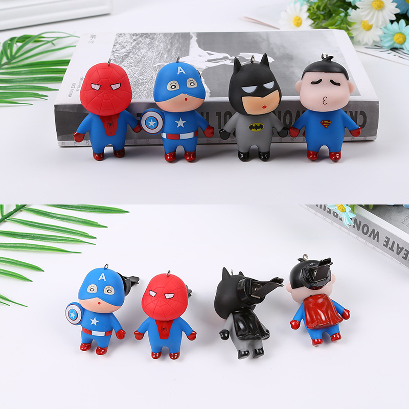 Image 2 - Car Air Freshener Automobiles Perfume Avengers Superhero Aromatherapy Clip Scent Diffuser Air Freshener In The Car Accessories-in Air Freshener from Automobiles & Motorcycles