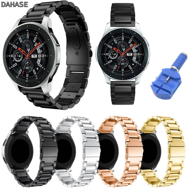 DAHASE Stainless Steel Watch Strap for Samsung Galaxy Watch 46mm Smart Watch Ban