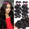 Brazilian Virgin Hair Body Wave 4 Bundles Queen Hair Products 7A Brazilian Wavy Human Hair Weave Bundle Remy Brazilian Body Wave