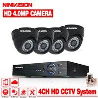 Главная 4 канальный HD AHD CVI TVI 4MP видео безопасности Системы DVR комплект Камера видеонаблюдения купол 4.0MP CCTV Камера s
