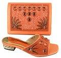 Zapatos Africanos Y Bolso A Juego Set Mujer Maravillosa moda Sandalia Zapatos Con Bolso A Juego Zapatos de Boda Italianos GF32