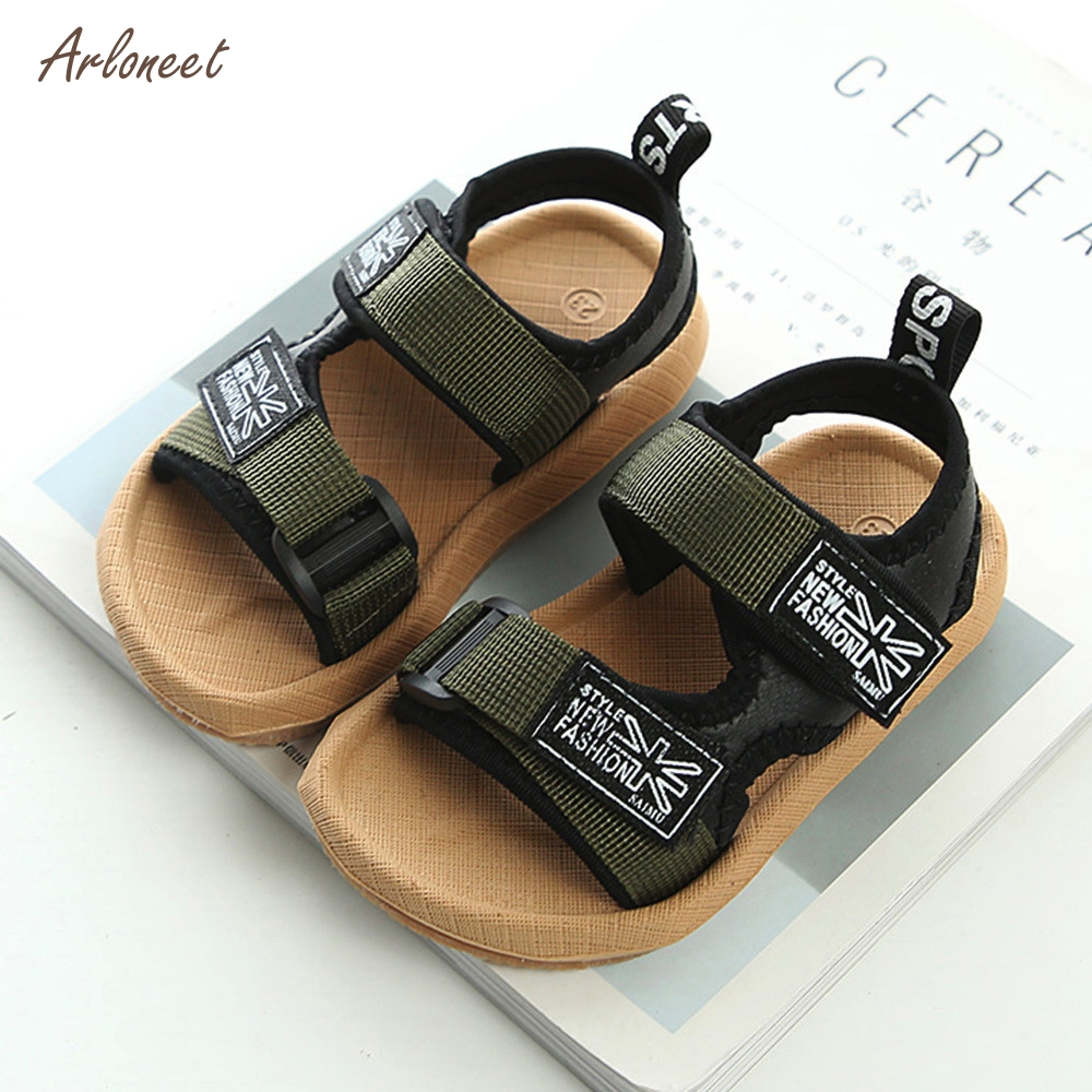 Baby Boys Beach Shoes Sneaker Toddler Children Patchwork Casual Single Shoes_Apr10