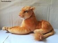 large 45cm simulation lion plush toy prone female lion soft throw pillow Christmas gift w0118