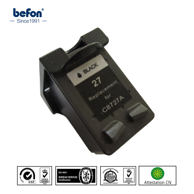 befon Compatible 27 black Cartridge Replacement for HP 27 Officejet 4255 4256 5608 5609 HP Deskjet 3320 3323 3325 3420 3425