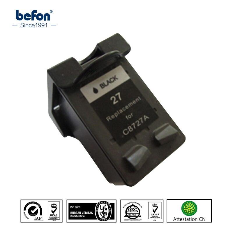 befon Compatible 27 black Cartridge Replacement for HP 27 Officejet 4255 4256 5608 5609 HP Deskjet 3320 3323 3325 3420 3425